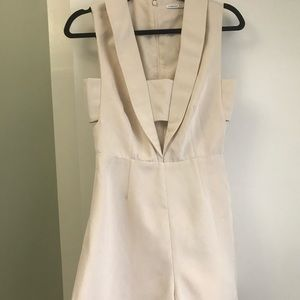 Finderskeepers playsuit/romper in cream